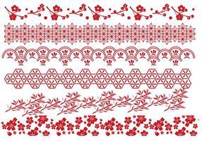 Röda japanska gränsvektorer