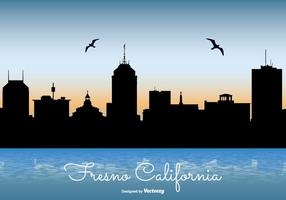 Fresno Kalifornien Skyline Illustration