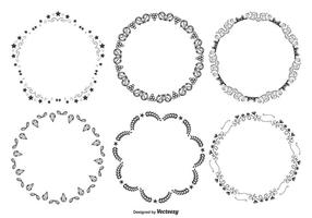 Cute Decorative Round Frames Set