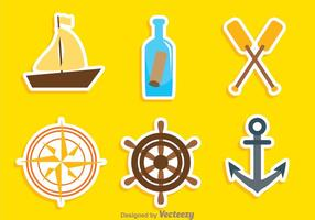 Nautical Colors Icons vector