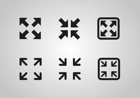 Gratis Full Screen Icon Vector