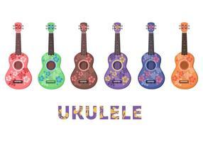 Patrón de flor del Ukulele