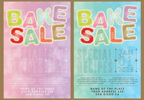 Bake Sale Cards vector