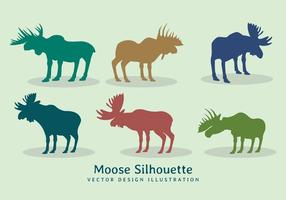 Vector moose silhouette design