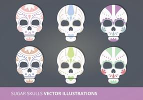 Sugar Skulls Vector Illustrations
