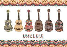 Ukulele with patterns