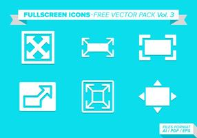 FullScreen Icons Free Vector Pack Vol 3