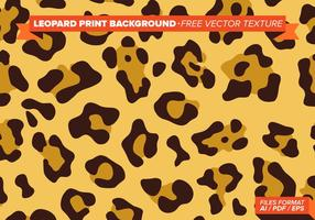 Fond d'impression léopard texture vecteur libre