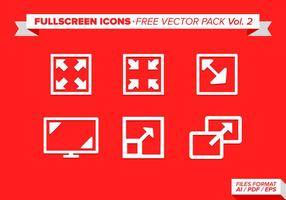 Full Screen Ikoner Gratis Vector Pack Vol 2