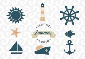 Vectores del mar y de Nautica
