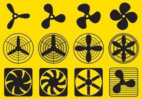 Vectores de ventilador ventilador