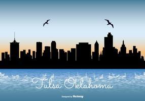 Tulsa Oklahoma Horizon Illustratie