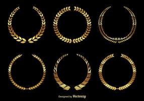 Golden wreaths vector