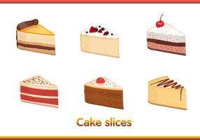 Vecteurs de tranches de gâteaux