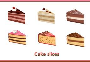 Vectores de la rebanada de la torta