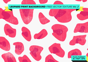 Leopard Print Background Gratis Vector Texture Vol. 2