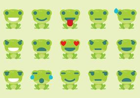 Frog Emoticon Vectors