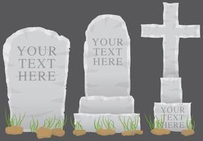 Vecteurs de pierres tombales grises