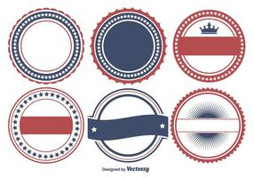 Colorful Patriotic Badge Shape Set
