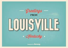 Retro Style Louisville Kentucky Greetings Illustration