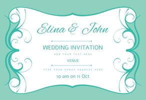 Vecteur d'invitation à la carte de mariage