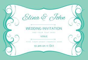 Inbjudningskort för bröllopskort