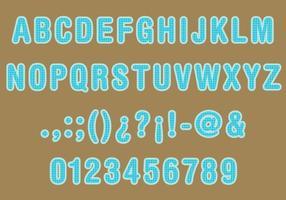 Sacco Texture Font Vector