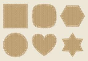 Burlap Vector Labels