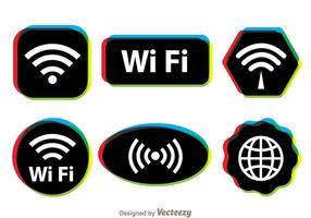 Symbole Wifi multicolore vecteur