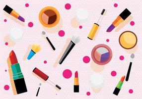 Vector de patrón de maquillaje