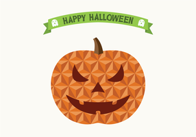 Flat Geometric Halloween Jack O 'Lantern / Pumpkin