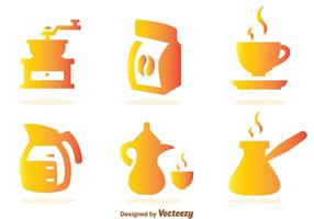 Coffee Gradient Icons vector
