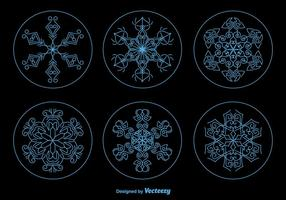 Flocos de neve de Natal