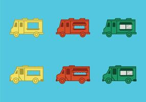 Free Food Truck Vector Illustration