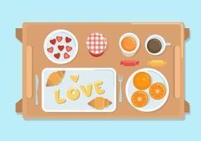 Ontbijt in bed vector