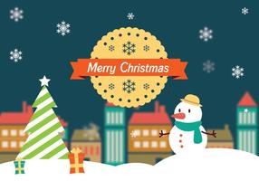 Feliz Navidad Paisaje Vector