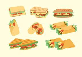 Panini Sandwich Vectores