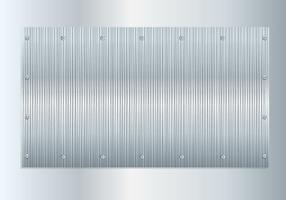 Vecteur en aluminium brossé