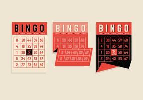 Vectores de la tarjeta del bingo