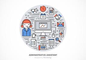 Conception de vecteur d'assistant administratif gratuit