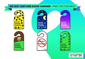 Stör ej dörrhängare Gratis Vector Pack