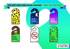 Nicht stören Tür Kleiderbügel Free Vector Pack
