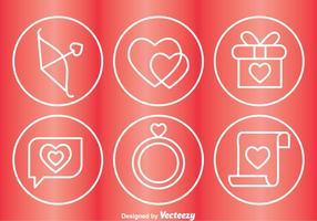 Ícones de círculo de amor