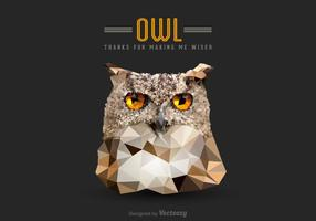Free Vector Low Poly Owl Kopf
