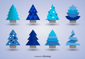 Christmas trees icons vector