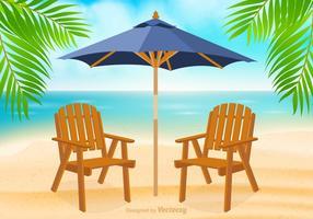 Free Adirondack Stuhl am Strand Vektor