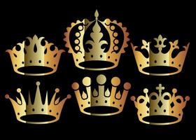 Vecteurs de couronne d'or