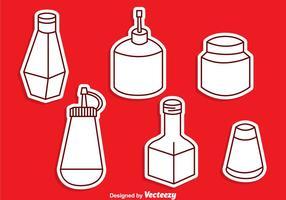Sauce Bottle Vector Set