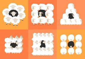 Troupeau de moutons noirs