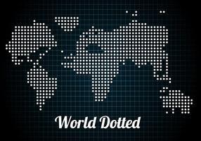 Gratis Gestippelde Wereld Vector